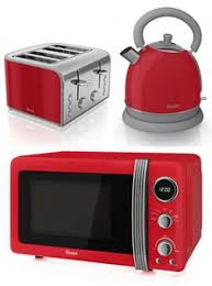 red microwave kettle toaster set u2013 glass dishes for meat u0026 dairy