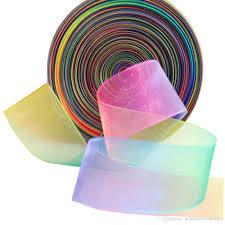sheer organza ribbon 25mm 100 yards rainbow colorful sheer organza ribbon webbing diy
