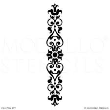 painted large wall graphics stencils custom modello stencils