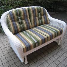 Wicker Settee Replacement Cushions by Northcape International St Lucia Woven Premium Deep Seat