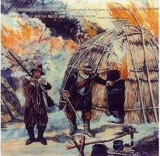 captain led the attack in 1637 against the pequots at
