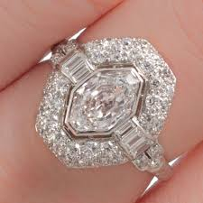 an original french art deco diamond engagement ring with a