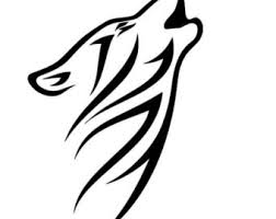wolf decal etsy