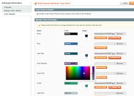 Magento Color Picker For Configurable Products Web Page Color Picker