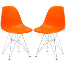 Orange Chair by Amazon Com Poly And Bark Eames Style Molded Plastic Eiffel