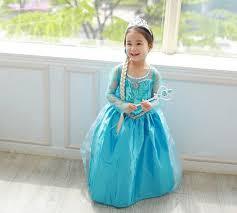 Queen Elsa Halloween Costume 2016 Girls Elsa Dress Toddler Halloween Costumes Vestido Elsa