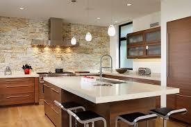 kitchen small kitchen with stone wall also tile backsplash
