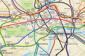 London Subway Map by London Tube Map Shows The Real Distance Between Stations London