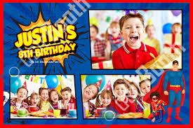 children u0027s superhero birthday template u2013 dslrbooth store