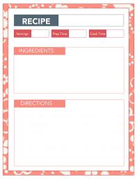 free printable recipe pages recipe sheets printable etame mibawa co