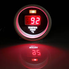 52mm red digital water temperature gauge display with temp sensor