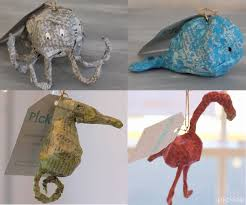 paper mache newsprint ornaments diy picklee