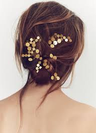 gold hair accessories bea s s16 constellation pins 14k gold plated brass hair
