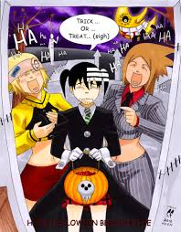 animie halloween background soul eater soul eater trick or treat by daikkenaurora on deviantart