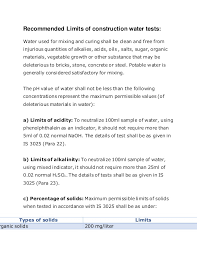 Example Server Resume by Tests For Water Quality For Construction