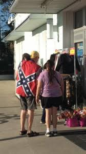 Confederate Flag Checks Man With Sleeveless Confederate Flag Shirt With Possum On