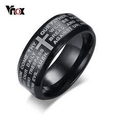 aliexpress buy vnox 2016 new wedding rings for women aliexpress buy vnox engraved bible cross ring for men 3