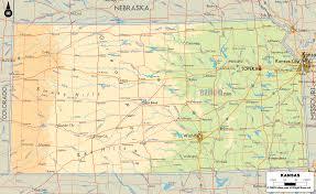 usa map kansas state physical map of kansas ezilon maps