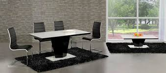 Black Gloss Dining Room Furniture Swish Black High Gloss White Glass Designer Dining Table Only Or