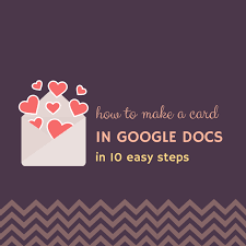how to create a card in docs in 10 steps altamonte family