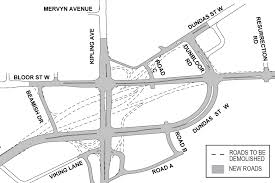 Map Of Toronto And New York by Overview Six Points Interchange Reconfiguration Construction