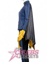 Batgirl Halloween Costume Batgirl Blue Leather Halloween Costume Celebs Jackets