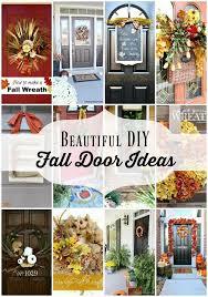 12 DIY Fall Door Decorations