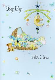 baby card new baby boy congratulations card water colours by second nature