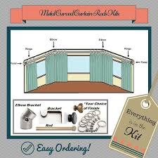 Installation Of Curtain Rods 9 Best Curved Curtain Rod For Bay Windows Images On Pinterest