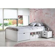 letto cassetti letto singolo moderno in legno massello con cassetti e comodino