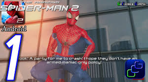 the amazing spider man 2 android walkthrough gameplay part 1