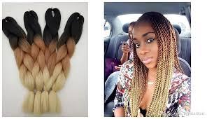 extension braids new trendy ombre color black brown beige 3t box braiding hair