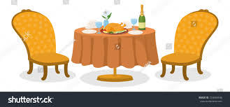delicious food on restaurant table thanksgiving stock vector
