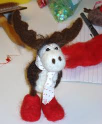 needle felting christmas decorations a guest blog