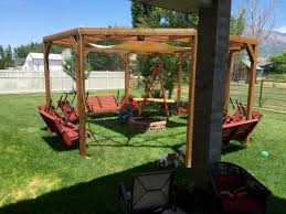 Firepit Swing Remodelaholic Tutorial Build An Amazing Diy Pergola And Firepit