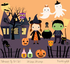 halloween clip art images halloween clip art set cute halloween images haunted house
