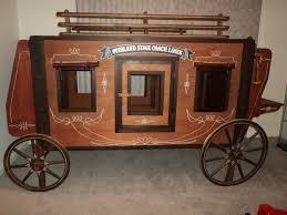 Details About Vintage Orig Life Size Overland Express Stagecoach - Vintage bunk beds