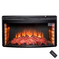 35 in freestanding electric fireplace insert
