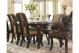 dining room table and chairs valraven dining room table ashley furniture homestore