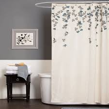 lush decor flower drop ivory blue shower curtain home bed