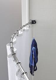 Shower Curtain For Curved Rod Amazon Com Crescent Suite Curved Shower Rod With Retractable