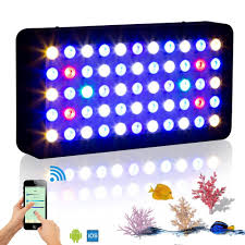 led lights for coral tanks wifi 165w marine aquarium led lighting dimmable full spectrum led