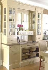 kitchen hutch ideas small workspace glass front cabinets and