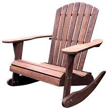 Outdoor Patio Rocking Chairs Pelican Hill Wood Adirondack Patio Rocking Chair Dark Brown
