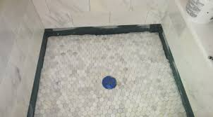 shower appealing how to tile a shower floor pan terrific how to
