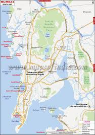 Sea Airport Map Beaches In Mumbai Mumbai Beaches