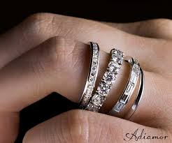 wedding rings together the look of the different eternity bands together
