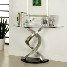 Overstock Sofa Tables Furniture Of America Helena Modern Satin Plated Sofa Table Free
