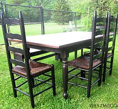 country tables for sale distressed black and walnut country dining table wes dalgo