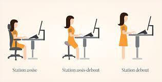 position assise bureau travailler assis debout quels effets sur ma santé azergo